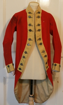 Army Coat worn during American War of Independance