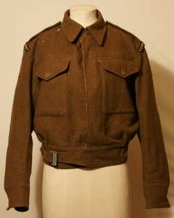 Battledress blouse worn at Monte Casino