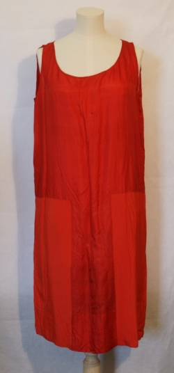 Red Silk Sack Dress 1920s