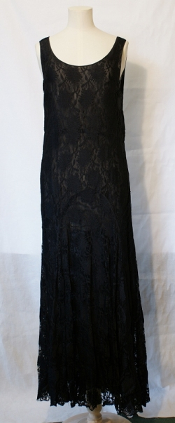 Black Lace Dress 1930s