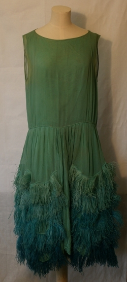 Chiffon and Feather Dress 1920s