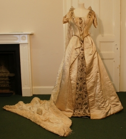 Silk Court Dress with Train