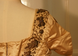 Bodice of Silk Court Dress